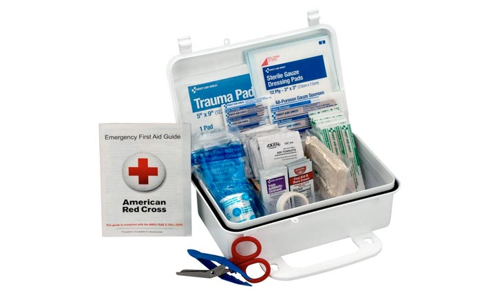 10 Person First Aid Kit, Weatherproof Plastic Case