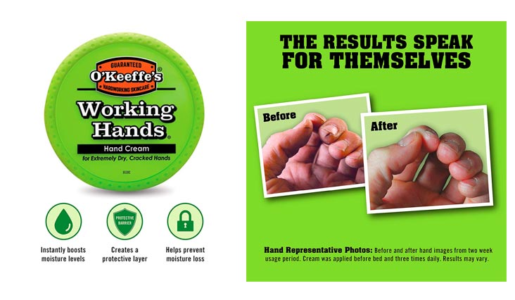 O'Keeffe's K0350002 Working Hands Hand Cream, 3.4 oz, Jar