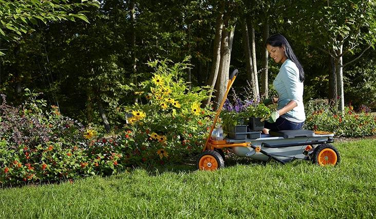 WORX Aerocart Multifunction Wheelbarrow, Dolly and Cart with WA0228 Wagon Kit