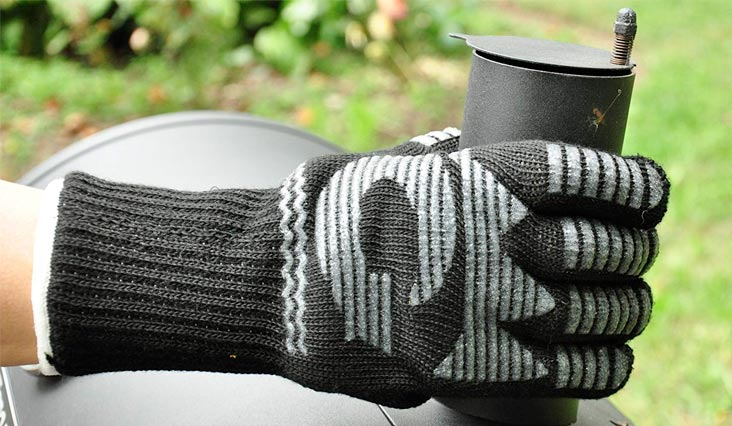 G & F 1682 Dupont Nomex Heat Resistant gloves for cooking, grilling, fireplace and oven, Barbecue Pit Mitt, BBQ Gloves