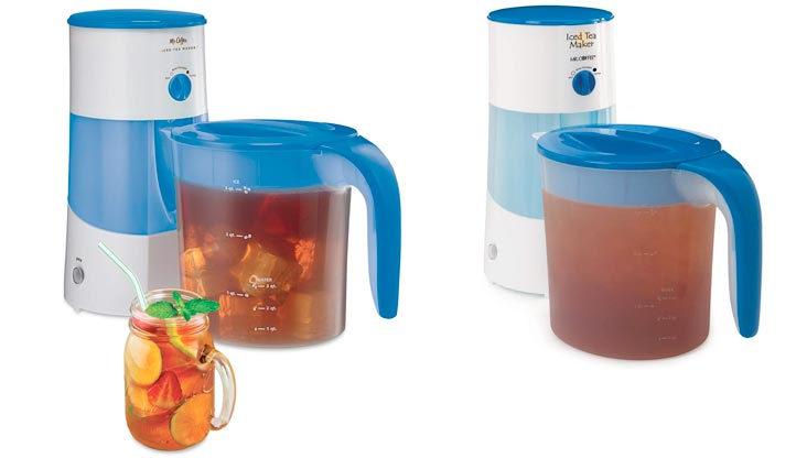 Mr. Coffee 3-Quart Iced Tea and Coffee Maker, Blue