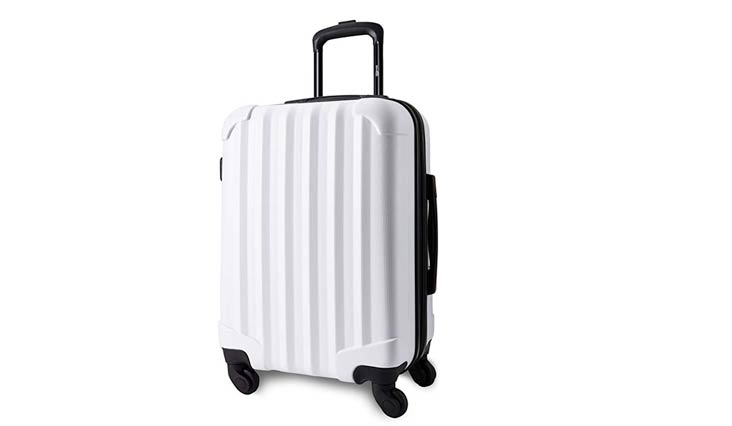 "21"" Aerial Hardside Carry On Luggage Spinner - Smart, Organized, Lightweight Suitcase"