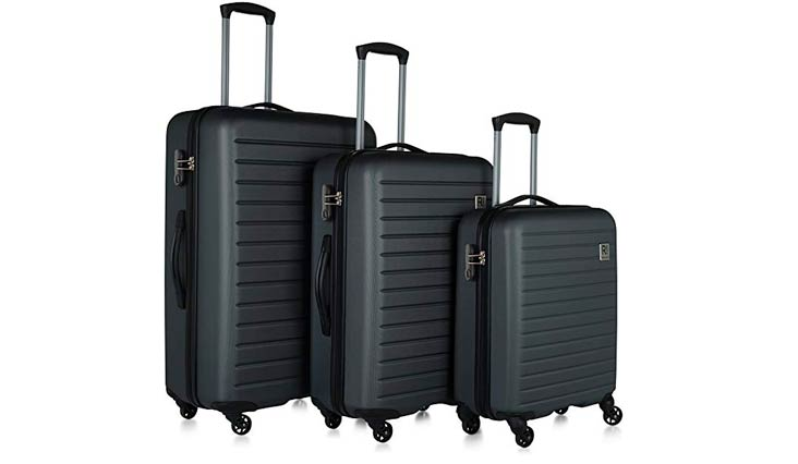 "Revelation! Dominica 3-Piece Expandable Upright Hardside Spinner Luggage Set: 31"", 27"", and 22"""