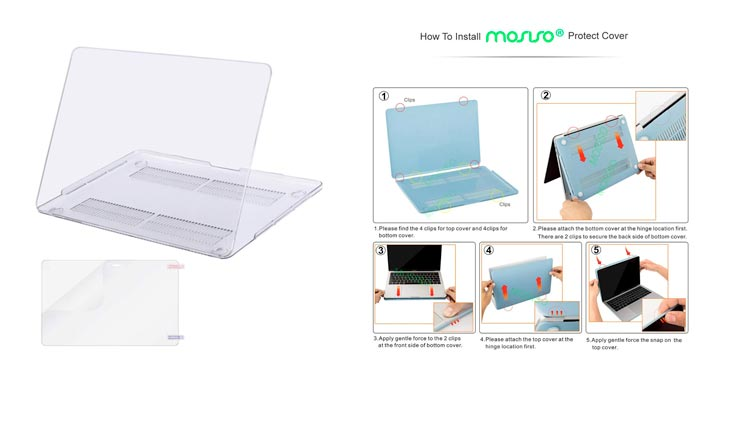 MOSISO MacBook Pro 13 Case 2018 2017 2016 Release A1989/A1706/A1708, Plastic Hard Shell Cover with Screen Protector Compatible Newest MacBook Pro 13 Inch with/without Touch Bar, Crystal Clear