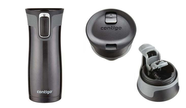 Contigo AUTOSEAL West Loop Stainless Steel Travel Mug, 16 oz, Black