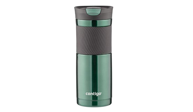 Contigo SnapSeal Byron Stainless Steel Travel Mug, 20 oz, Greyed Jade