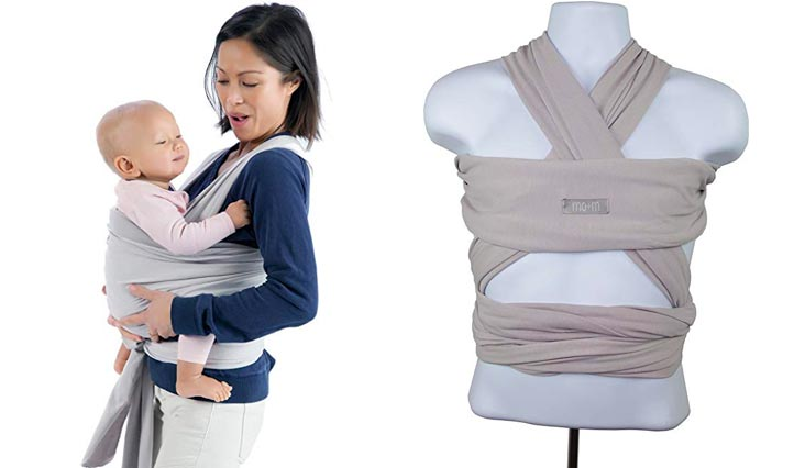 a084aafe26a Mo+m Baby Wrap (Stone Grey) – Ultra Soft Infant Sling Child Carrier Keeps  Your Baby Comfortable   Safe – 4 Different Carries – Cotton Spandex  Stretchy Wrap