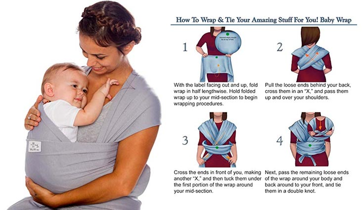 1fa525f464a 10. MoM-me Baby Wrap – Baby Carrier – 4 in 1 Multi-Use – Nursing Cover –  Postpartum Belt – Baby Sling – Soft Infant Carrier – Perfect for Baby  Showers ...