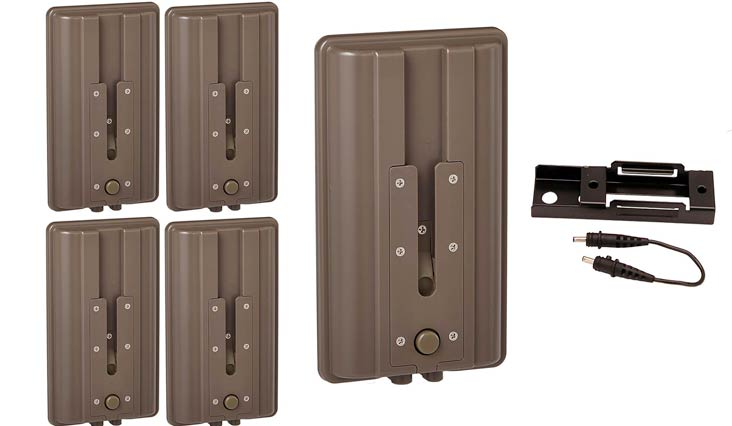 (4) CUDDEBACK Game Trail Hunting Camera C & E Series Battery Power Booster Packs