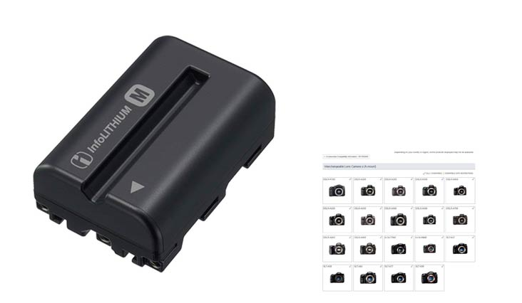 Sony NPFM500H Li-Ion Rechargeable Battery Pack for Sony Alpha Digital SLR Cameras - Retail Packaging