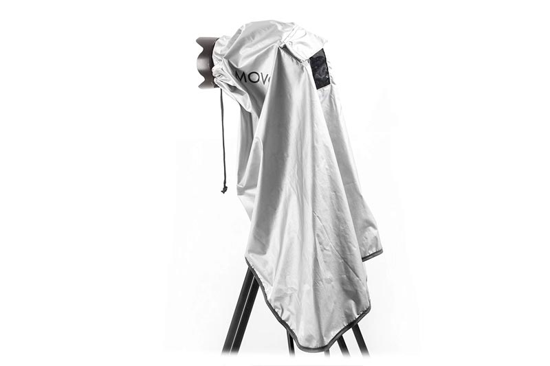 Movo CRC03 Extra-Long Waterproof Rain Coat for DSLR Camera, Lens & Tripod (Metallic Gray)