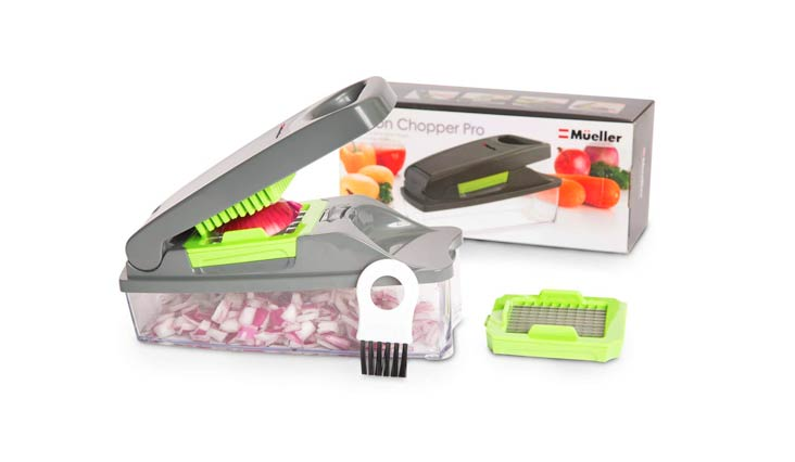 Onion Chopper Pro Vegetable Chopper by Mueller - Strongest - NO MORE TEARS 30% Heavier Duty Multi Vegetable-Fruit-Cheese-Onion Chopper-Dicer-Kitchen Cutter