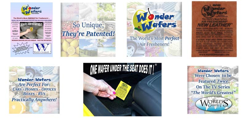 Wonder Wafers 25 CT Individually Wrapped New Leather Air Fresheners